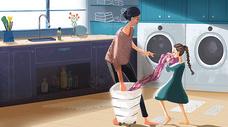 帮母亲做家务图片
