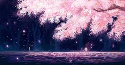 樱花树下的相遇图片
