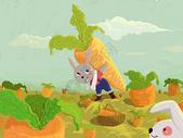 劳动的兔子最可爱图片