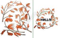 手绘水彩枫叶生长图片