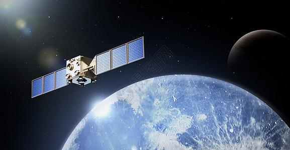 太空星空科技蓝色背景图片