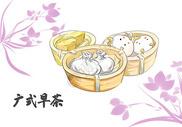 广东特色美食广式早茶图片