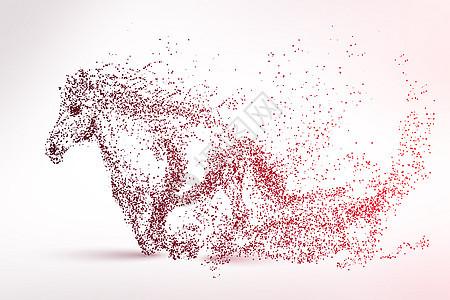 马剪影粒子图片