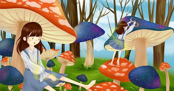 蘑菇女孩图片