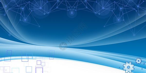 蓝色科技商业背景图片