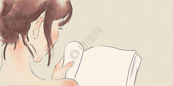 读书的女孩图片