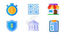 商务扁平icon图标图片