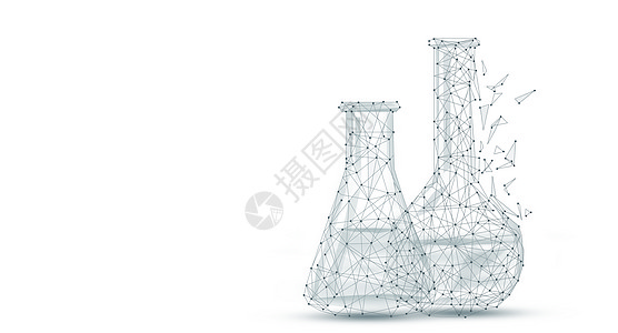 医药实验器皿科技背景图片