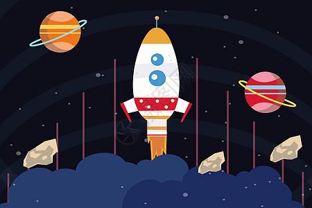 宇宙太空火箭之旅图片