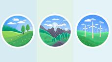 风景扁平icon图片