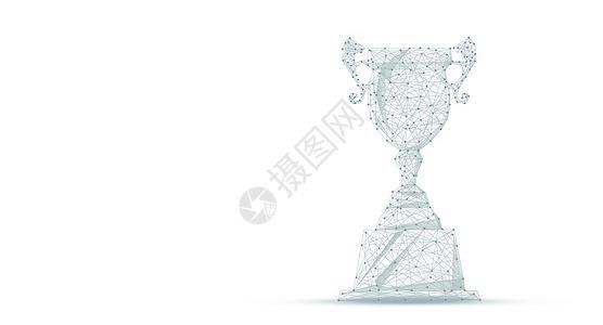 创意线条奖杯背景图片