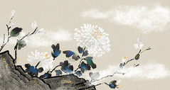 中国风水墨花卉图片