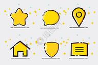 黄色mbe风格图标图片
