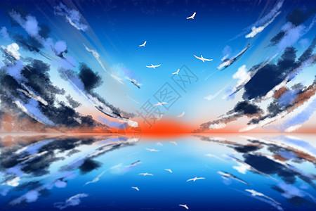 安静的天空图片