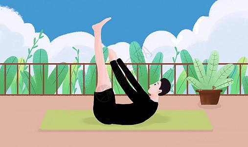 男生做瑜伽�\��D片