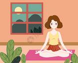 瑜伽女孩400127688图片