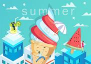 夏天清凉背景图片