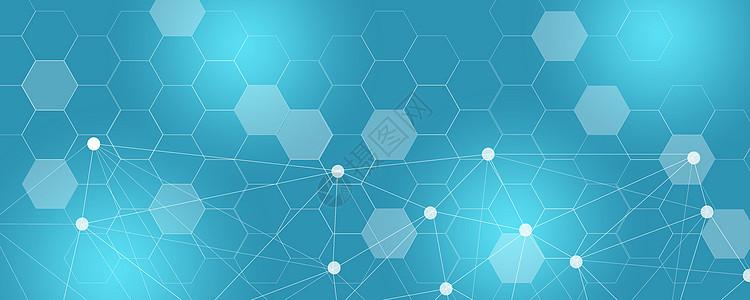 科技分子结构背景图片