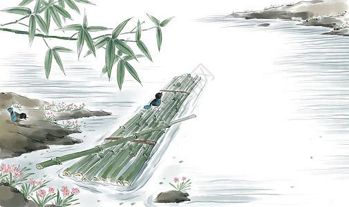 竹筏水上游图片