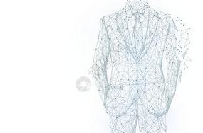 商务人物创意线条科技背景图片