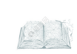 线条创意书本图片