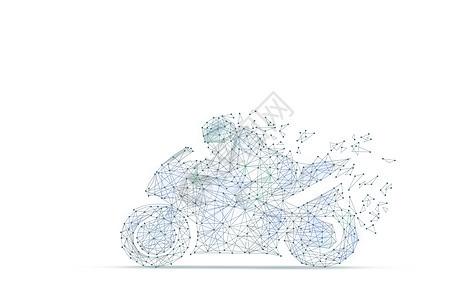 线条科技摩托赛车背景图片