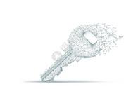 创意线条科技钥匙背景图片