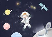 宇航员在太空中图片