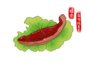 中国传统美食腊肉图片