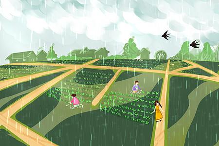 谷雨播种图片