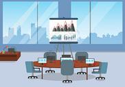 商务会议矢量图片