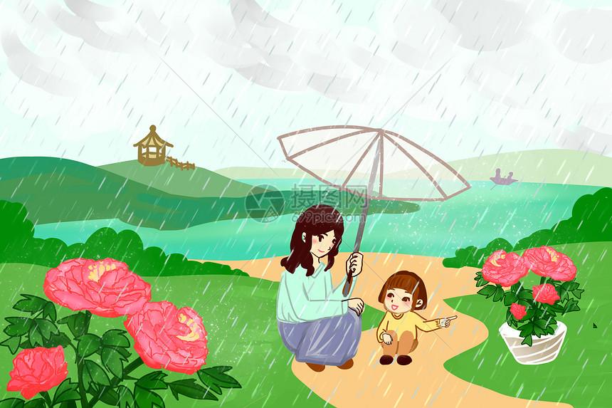谷雨赏牡丹花图片