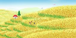 旅游油菜花田图片