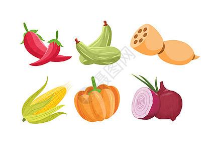 蔬菜手绘素材图片