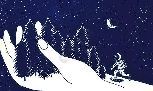 玩滑板的宇航员picture