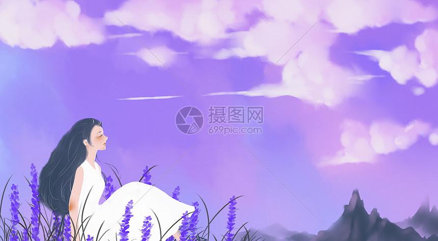 紫色世界图片