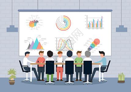 商务办公会议矢量图片