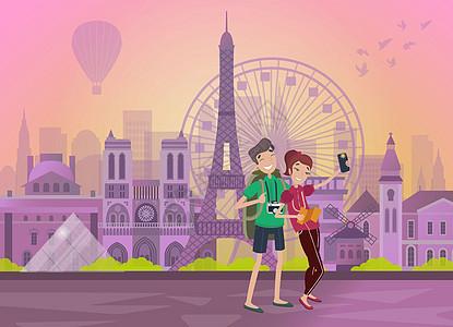 巴黎旅游情侣蜜月游图片