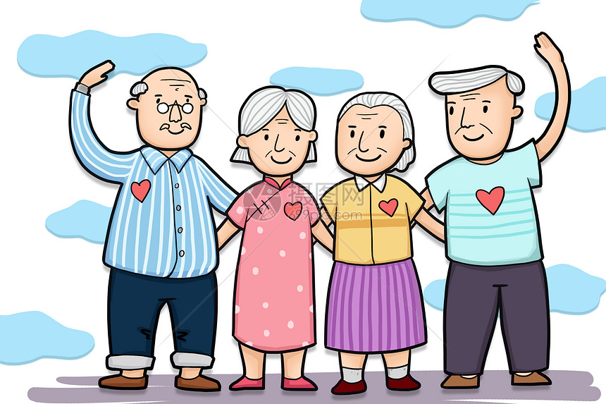 关爱老年人图片