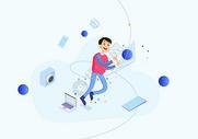 职场办公创意插图图片