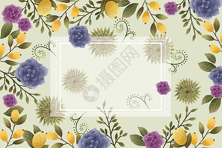 芒果元素花卉植物背景图片