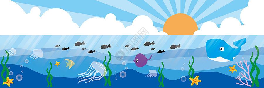 海洋背景banner图片