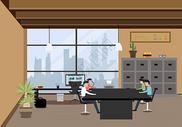 办公室会议图片