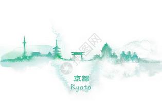京都水彩插画图片