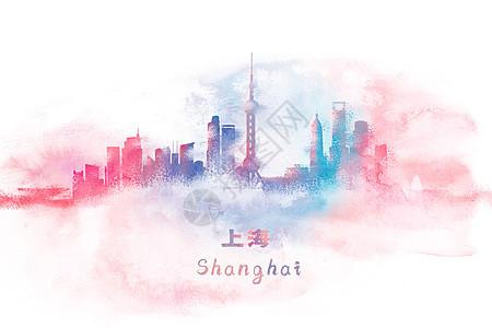 上海水彩插画图片
