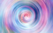 彩色渐变旋涡背景图片