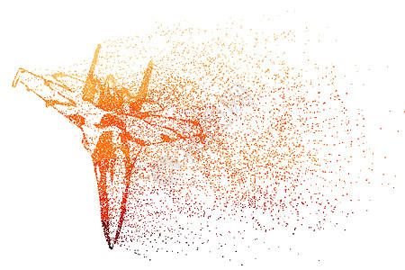 飞机剪影粒子图片
