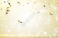 鎏金彩带背景图片
