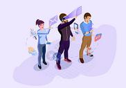 互联网科技矢量插图图片