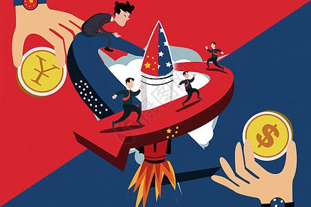 中美贸易战争图片